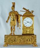 """Арт-студия """"Кентавр"""" - Старинные каминные часы с боем """"Римский воин""""1800-1810гг №010051"""