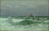 "Арт-студия ""Кентавр"" - Лохер Карл (1851-1915) -- ""Морской пейзаж"" 1886 г. №010069"