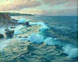 "Арт-студия ""Кентавр"" - Беме Карл Теодор (1866-1939) - ""Морской пейзаж"" 1918 г. №010072"