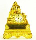 """Арт-студия """"Кентавр"""" - Cтаринные каминные часы с боем """"Дама в накидке"""" №010238"""