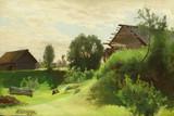 """Арт-студия """"Кентавр"""" -  """"Деревенский пейзаж"""" №010333"""