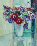 """Арт-студия """"Кентавр"""" - Глансдорф Хуберт (1877-1963) - """"Букет цветов в вазе"""" 1940г №010398"""