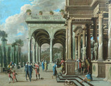 "Арт-студия ""Кентавр"" - Лучиано Асканио (1621-1706) - ""Архитектурная фантазия"".  №010433"
