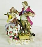 "Арт-студия ""Кентавр"" - Статуэтка ""Девушка и юноша садовники"" 1850-1860-е гг. №010528"