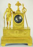 """Арт-студия """"Кентавр"""" - Часы бронзовые каминные """"Диана"""" в стиле ампир №010670"""