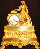 """Арт-студия """"Кентавр"""" - Часы старинные бронзовые каминные """"Девушка, составляющая письмо"""" №010671"""