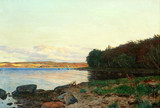 "Арт-студия ""Кентавр"" - Христенсен Годфред (1845-1928) - ""Пейзаж с озером"" 1899 г. №010753"