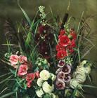 """Антиквариат.ру - Торнам Эмми (1852-1935) - """"Мальвы и камыши""""  №010945 - Датская художница Эмми Торнам (1852-1935) известна как автор цветочных натюрмортов. Она выросла в городе Хорсенс в семье учителя Луи Торнами, ее младшая сестра Людовика также была художницей. Родители поддерживали интерес дочери к искусству, и она стала профессионально учиться рисованию в техническом училище в Хорсенсе. Затем Эмми продолжила учебу в Копенгагене, где в 1873-1875 годах занималась в Женской школе рисования художника Вильгельма Кина. Учебу в школе она дополняла занятиями живописью у мастера цветочного натюрморта Олуфа Августа Хермансена. Затем вместе с сестрой продолжила образование в Париже, где в 1887-1888 годах занималась в мастерской известного художника-флориста из Севра Пьера Бургоня. Начиная с 1882 года и до самой смерти художница демонстрировала свои произведения на весенних академических выставках во дворце Шарлоттенборг в Копенгагене. В 1920-е годы Эмми Торнам издала две книги рассказов, а в 1932 году вышли ее мемуары """"Моя сестра и я""""."""