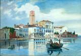 """Арт-студия """"Кентавр"""" -  Брандейс Антуанетта (1849-1926) - """"Вид Венеции"""" Около 1900 года. №010982"""