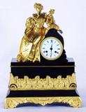 """Арт-студия """"Кентавр"""" - Часы каминные с боем """"Дама c  букетом"""" №011060"""
