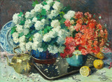 "Арт-студия ""Кентавр"" - Вагемекерс Виктор (1876-1953) - ""Натюрморт с цветами и лимонами"" Конец 1920-х гг №011233"
