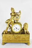 """Арт-студия """"Кентавр"""" - Старинные каминные часы с боем """"Орфей, играющий на лире """" №011389"""