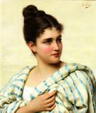 """Арт-студия """"Кентавр"""" - Конти Тито (1842-1924)  """"Итальянка в бело-голубой шали"""" №011461"""