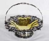 """Арт-студия """"Кентавр"""" - Большая старинная серебряная ваза для фруктов стиле второго рококо №011490"""