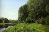 "Арт-студия ""Кентавр"" - Христенсен Поликарпус Годфред Бенжамин (1845-1928) - ""Пейзаж с рекой"" 187(9)г №011587"