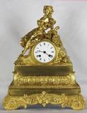"""Арт-студия """"Кентавр"""" - Cтаринные каминные часы с боем """"Юная цветочница"""" №011613"""