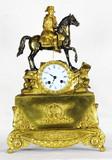 """Арт-студия """"Кентавр"""" - Cтаринные каминные часы с боем """"Наполеон на коне"""" №011614"""