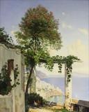 """Арт-студия """"Кентавр"""" - Фриструп Нилаус (1837-1909) - """"Терраса. Вид на итальянское побережье"""" 1892г №011622"""