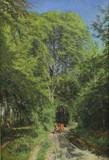 """Арт-студия """"Кентавр"""" - Христенсен Поликарпус Годфред Бенжамин (1845-1928) - """"Мальчик с коровой в лесу"""" №011644"""