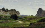"""Арт-студия """"Кентавр"""" - Йесперсен Хенрик Гамст (1853-1936) - """"Хижина в горах"""" между 1886-1914гг №011715"""