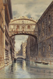 """Арт-студия """"Кентавр"""" - Вернер Карл Фридрих Генрих (1808-1894) - """"Мост вздохов в Венеции"""" 1853г №011749"""