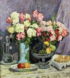 "Арт-студия ""Кентавр"" - ""Натюрморт с розами и фруктами""  №011822"