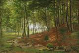"""Арт-студия """"Кентавр"""" - Грот Вильгельм (1842-1899) - """" Лесной пейзаж"""" 1897г №011853"""