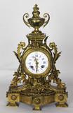 """Арт-студия """"Кентавр"""" - Старинные каминные  часы с боем с растительным декором №011982"""