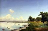 "Арт-студия ""Кентавр"" - Шовелин Аксель Торсен (1827-1893) - ""Вид на Ламмефьорд"" 1875г №012046"