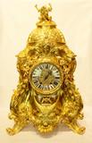"""Арт-студия """"Кентавр"""" - Дворцовые старинные часы в стиле барокко с фигурой дракона №012077"""