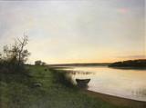 """Арт-студия """"Кентавр"""" - Ларсен Адольф Альберт (1856-1942) - """"Пейзаж с озером"""" №012330"""