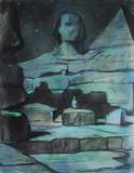 """Арт-студия """"Кентавр"""" - """"Сфинкс"""" (иллюстрация к стихотворению А.В.Софронова """"У пирамиды чувствуешь себя еще младенцем..."""") №012459"""