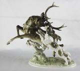"""Арт-студия """"Кентавр"""" - Фарфоровая статуэтка """"Охота на оленя"""" №012547"""