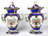 """Арт-студия """"Кентавр"""" - Парные вазы с изображением цветов. 1831-1842гг. №012603"""