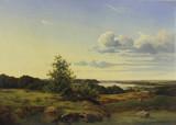 "Арт-студия ""Кентавр"" - Олстед Петер (1824-1887) - ""Вид датского озера Тиструп"" 1850-х годов №012719"