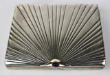 """Арт-студия """"Кентавр"""" - Старинный серебряный портсигар с сапфиром №012831"""