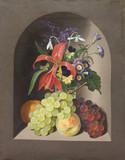 """Арт-студия """"Кентавр"""" - Шультц Эрдман (1810-1841) - """"Натюрморт с цветами и фруктами"""" №012854"""