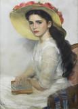 """Арт-студия """"Кентавр"""" - Хейлеманн Эрнст (1870-1936)- """" Портрет молодой женщины"""" 1890-1910-е годы №012871"""