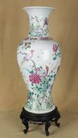 """Арт-студия """"Кентавр"""" - Старинная ваза на подставке с изображением птиц №012891"""