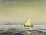 """Арт-студия """"Кентавр"""" - Олсен Кристиан Бенджамин (1873-1935) - """"Парусник в море"""" №012972"""