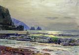 """Арт-студия """"Кентавр"""" - """"Морской пейзаж. Вид на Медведь-гору (Аю-Даг)"""" №013001"""