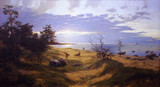 """Арт-студия """"Кентавр"""" - """"Вечерний пейзаж с рыбаками. Песчаный берег."""" №013002"""