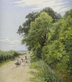 """Арт-студия """"Кентавр"""" - Йенсен Милтон (1855-1928) - """"Летний день в Сент Ханстиде близ Бьеррингбро"""" №013224"""