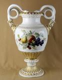 """Арт-студия """"Кентавр"""" - Большая антикварная ваза с изображением фруктов и цветов №013305"""