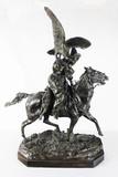 """Арт-студия """"Кентавр"""" - Бронзовая скульптура """"Киргиз-охотник с беркутом"""" №013321"""