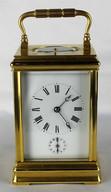 """Арт-студия """"Кентавр"""" - Старинные каретные часы с репетиром и будильником. 1880г №013384"""