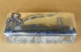 """Арт-студия """"Кентавр"""" - Хрустальная шкатулка  в стиле модерн с изображением цветка ириса №013490"""