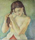 """Арт-студия """"Кентавр"""" - """"Девушка, заплетающая косу""""  №013678"""
