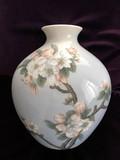 """Арт-студия """"Кентавр"""" - Антикварная фарфоровая ваза с изображением цветов №013720"""