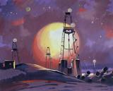 "Арт-студия ""Кентавр"" - ""Нефтяная буровая ночью"" №013734"